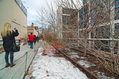 L'alta linea parco di Manhattan New York Fotografie Stock Libere da Diritti