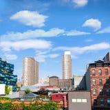 L'alta linea parco osserva Manhattan New York Stati Uniti Fotografie Stock Libere da Diritti