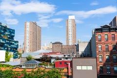 L'alta linea parco osserva Manhattan New York Stati Uniti Immagine Stock