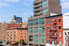 L'alta linea parco osserva Manhattan New York Stati Uniti Fotografia Stock