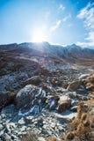 L'alta montagna in Annapurna sanctury Fotografia Stock