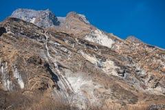 L'alta montagna in Annapurna sanctury Immagini Stock