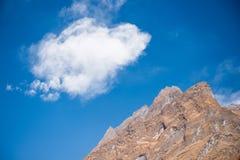 L'alta montagna in Annapurna sanctury Immagine Stock