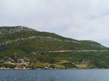 L'alta montagna di Peljesac in Croazia Immagine Stock