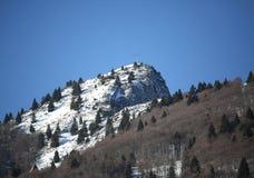 L'alta montagna ha chiamato SPITZ con neve bianca nell'inverno in Italia Immagini Stock Libere da Diritti