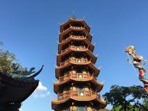 L'alta pagoda di otto storie Fotografie Stock Libere da Diritti