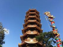 L'alta pagoda di otto storie Fotografia Stock Libera da Diritti