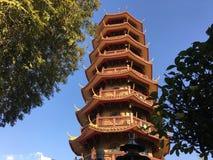 L'alta pagoda di otto storie Fotografie Stock