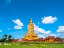 l'alta pagoda gialla in tempio delle tenaglie di colpo Immagine Stock Libera da Diritti