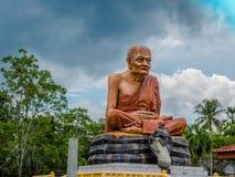 l'alta pagoda gialla in tempio delle tenaglie di colpo Fotografia Stock Libera da Diritti