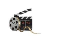 L'alta qualità 3d del bordo di valvola di film non rende su bianco ombra Fotografia Stock