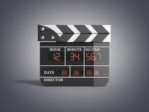 L'alta qualità 3d del bordo di valvola di film rende isolato su grey Fotografia Stock Libera da Diritti