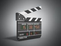 L'alta qualità 3d del bordo di valvola di film rende su grey Fotografie Stock Libere da Diritti