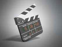 L'alta qualità 3d del bordo di valvola di film rende su grey Immagine Stock