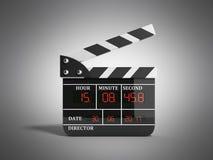 L'alta qualità 3d del bordo di valvola di film rende su grey Fotografia Stock Libera da Diritti