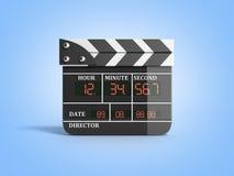 L'alta qualità 3d del bordo di valvola di film rende sul blu Immagine Stock Libera da Diritti
