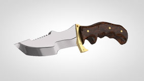 L'alta ricerca 3d ha reso il coltello moderno Fotografia Stock