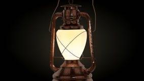 L'alta ricerca 3d ha reso la lampada del petrolio Immagini Stock