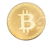 L'alta ricerca ha isolato il bitcoin su un fondo bianco Fotografia Stock Libera da Diritti