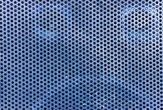 L'alta risoluzione rappresenta la struttura blu del fondo del metallo Immagini Stock