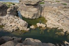 L'alta sponda del fiume in Tailandia Fotografia Stock Libera da Diritti