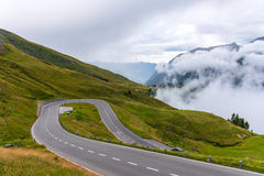 L'alta strada alpina di Grossglockner Fotografia Stock Libera da Diritti