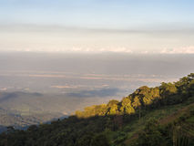 L'alta vista della montagna Fotografia Stock Libera da Diritti