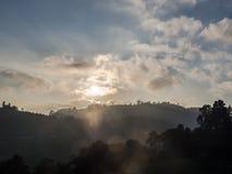 L'alta vista della montagna Immagine Stock
