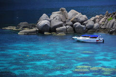 L'alta vista di si tuffa il mare blu Fotografie Stock
