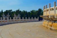 L'altare circolare di Yuanqiu al tempio del cielo, Pechino Fotografia Stock Libera da Diritti