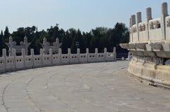 L'altare circolare di Yuanqiu al tempio del cielo, Pechino Immagine Stock
