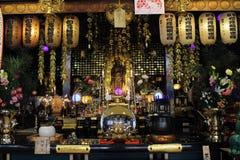L'altare del ` del tempio della rana del ` in Ogori, Fukuoka Immagini Stock Libere da Diritti