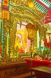 L'altare del tempio di Guanyin Gumiao di cinese, Rangoon, Myanmar Immagini Stock