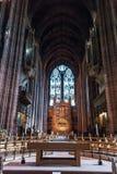 L'altare della cattedrale dell'anglicano di Liverpool Immagini Stock