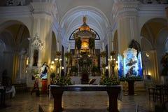 L'altare della cattedrale di Leon, Nicaragua Fotografia Stock