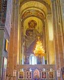 L'altare della cattedrale di Svetitskhoveli Fotografia Stock Libera da Diritti