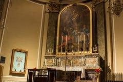 L'altare della chiesa Fotografia Stock Libera da Diritti
