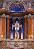 L'altare della chiesa cattolica Fotografia Stock Libera da Diritti
