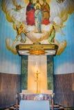 L'altare della chiesa della grotta Fotografia Stock Libera da Diritti