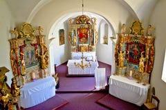 L'altare della chiesa di Marko del san in Krizevci Fotografie Stock