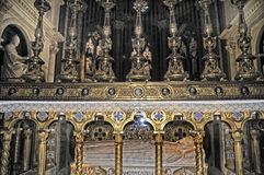 L'altare della chiesa di Santa Maria Sopra Minerva a Roma Fotografia Stock