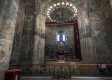 L'altare della chiesa di Surb Stepanos del XII secolo dentro Fotografie Stock Libere da Diritti