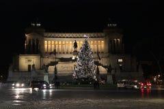 L'altare della patria e di un albero di Natale Fotografie Stock Libere da Diritti
