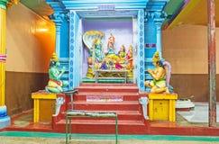 L'altare di Ranganatha in tempio indù tamil Fotografie Stock Libere da Diritti
