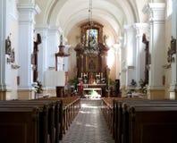 L'altare di vecchia chiesa Fotografie Stock Libere da Diritti
