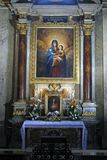 L'altare di vergine Maria benedetto Immagine Stock