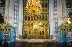 L'altare e l'iconostasi nel nuovo monastero di Gerusalemme, Russia Immagini Stock Libere da Diritti