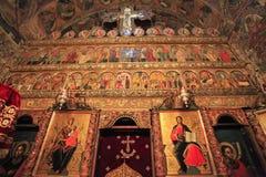 L'altare famoso del monastero di Voronet, Romania Fotografia Stock