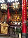 L'altare nel tempio buddista in Jioufen, Taiwan Immagini Stock Libere da Diritti