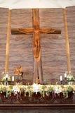 L'altare nella chiesa Immagine Stock Libera da Diritti